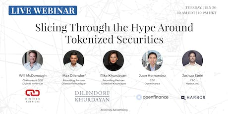 Slicing Through the Hype Around Tokenized Securities | Live Webinar | Frankfurt, Germany tickets