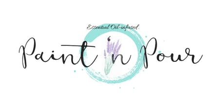 Paint & Pour: Essential Oil Infused Lavender Painting tickets