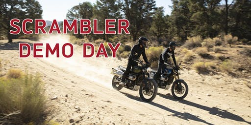 Triumph Scrambler Demo Day