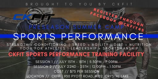 Preseason Sports Performance Camp