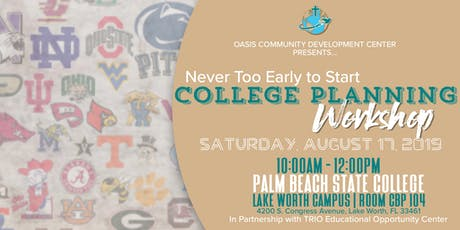 Never Too Early to Start College Planning Workshop tickets