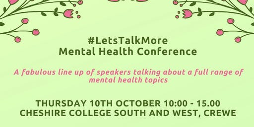 #LetsTalkMore Mental Health Conference