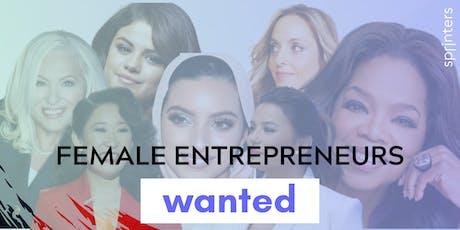 Female Entrepreneurs Wanted     bilhetes