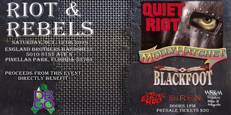 Riot & Rebels with Quiet Riot, Molly Hatchet and BLACKFOOT  tickets