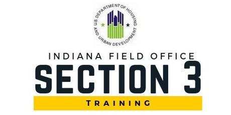 HUD Indiana Field Office Section 3 Training tickets