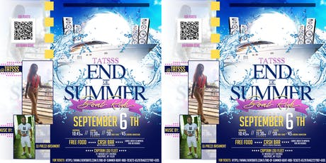 End of Summer Boat Ride tickets