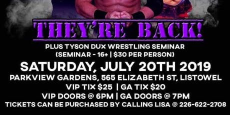 They're Back: HWE Wrestling Event tickets