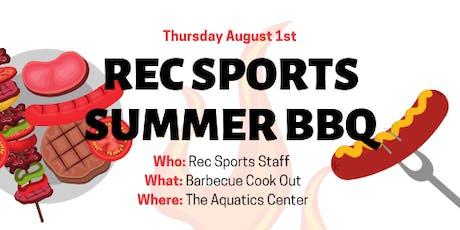 Rec Sports Staff BBQ tickets
