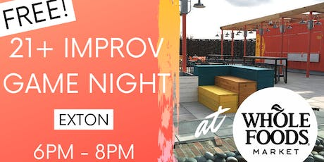 Free Rooftop Improv Game Night at Whole Foods tickets