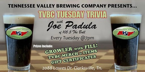 TVBC Tuesday Trivia with Joe Padula™