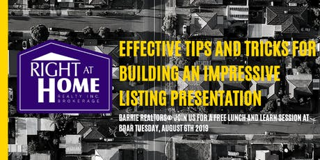 Effective Tips and Tricks for Building an Impressive Listing Presentation tickets