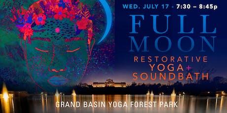 FULL MOON Restorative Yoga + Soundbath (Summer Series) tickets