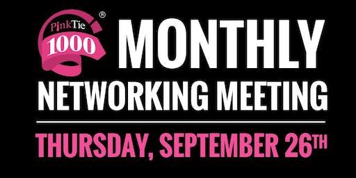 PinkTie 1000 Monthly Networking Series   SEPTEMBER