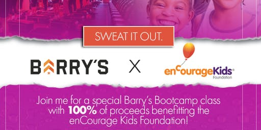 Barry's Bootcamp Charity Class for enCourage Kids Foundation