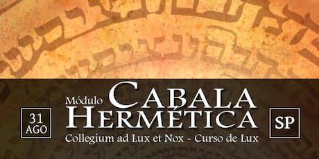 [SP] Curso de LVX - Módulo Cabala  tickets