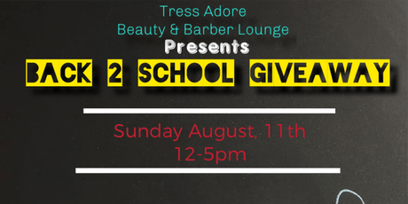 "Tress Adore ""Back to School"" Giveaway  tickets"