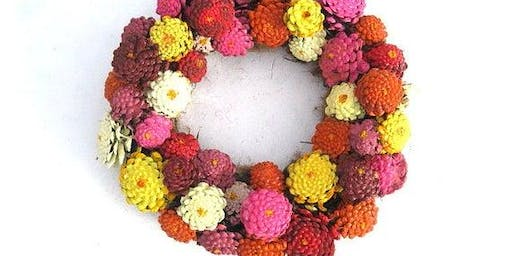 Upcycle Pinecones to Zinnia's for wreaths - a.m. session