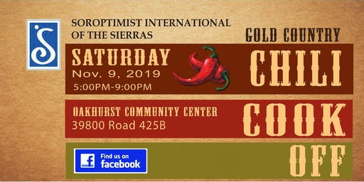 2019 Chili Cook Off - Fall Fundraiser for Soroptimist Int'l of The Sierras