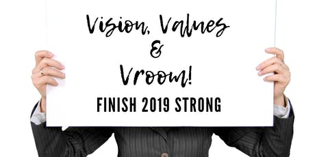 Vision, Values & Vroom - Time to put the pedal to the metal in your Biz! tickets