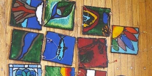 Kids Night Lights w/ Prairie Light Art Glass