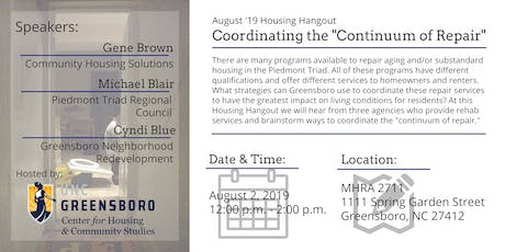 "Coordinating the ""Continuum of Repair"" - August Housing Hangout tickets"