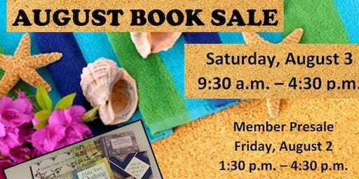 Friends of Lacey Library August Book Sale