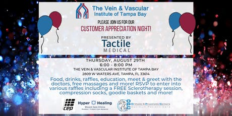Vein & Vascular Institute Customer Appreciation Night tickets