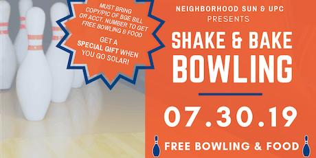 Shake & Bake Bowling (Free bowling!) tickets