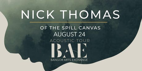 Nick Thomas of The Spill Canvas at the BAE Ballroom tickets