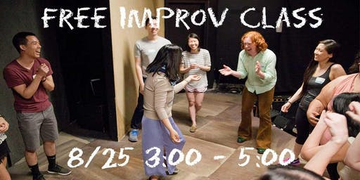 Free Introductory Improv Class Fall 2019