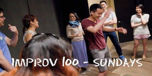 IMPROV 100 SUNDAYS-  Intro to Improv - Build Confidence FALL