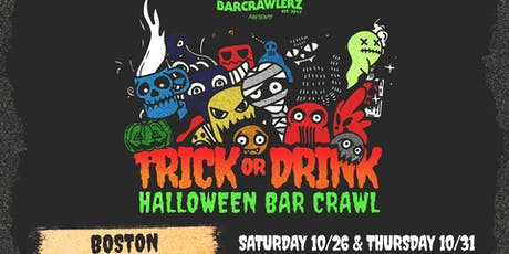 Trick or Drink: Boston Halloween Bar Crawl (2 Days) tickets