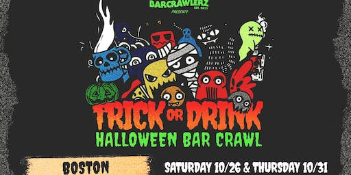 Trick or Drink: Boston Halloween Bar Crawl (2 Days)