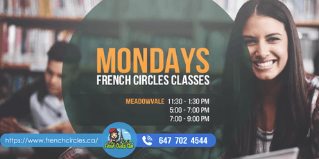 French Classes in Mississauga (Meadowvale Mondays evenings) tickets