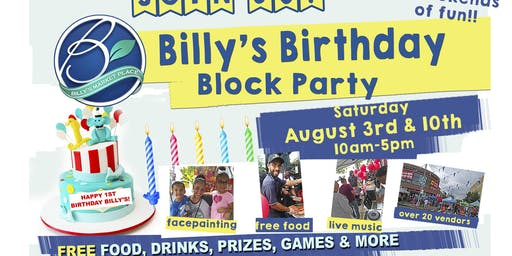 FREE EVENT: Billy's Birthday Block Party!