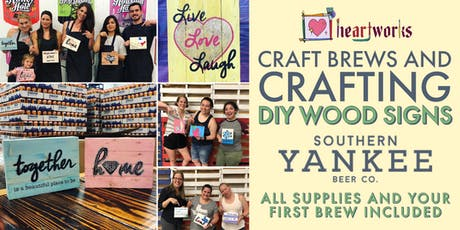 Craft Brews and Crafting - DIY Wood Signs tickets