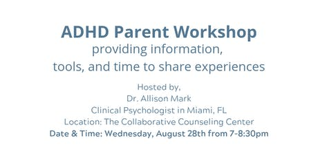 Workshop for Parents of Children with ADHD tickets