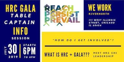HRC Gala Table Captian Info Session