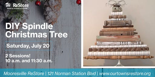 DIY Spindle Christmas Tree Event