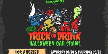 Trick or Drink: L.A. Halloween Bar Crawl (2 Days) tickets