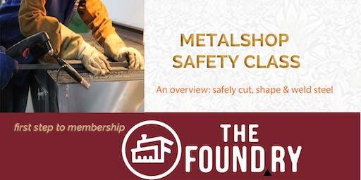 September Metalshop Safety Class