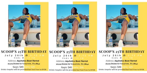 Scoops 25th Birthday