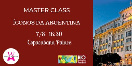 RIO WINE AND FOOD FESTIVAL - Master Classes no Copacabana Palace ingressos