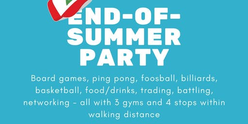End-of-Summer Trainer Party!