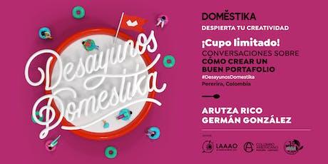 Desayunos Domestika con Arutza Rico & Germán González entradas