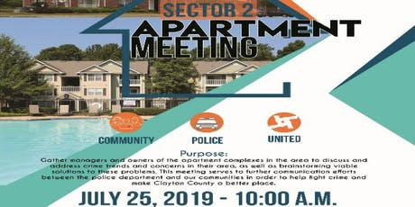 Clayton County Police Department's Sector 2 Apartment Meeting tickets