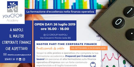 OPEN DAY: Master Part Time Corporate Finance  biglietti