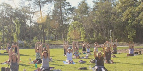 First Sunday Yoga on the Lawn at WellCome OM tickets