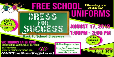 Victorious Faith Dress for Success!!!		Free School Uniform Giveaway tickets