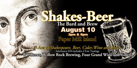 Shakes-Beer: The Bard and Brew tickets